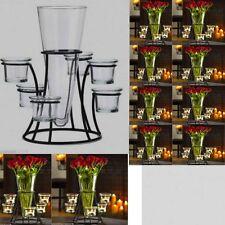 10 Vase Candelabra Black Metal Candle Holder Wedding Centerpieces Table Decor