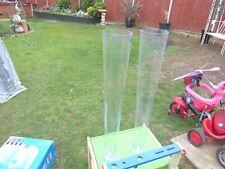 2 large floor standing glass vases