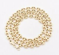 5mm Puffed Gucci Mariner Link Chain Necklace Real Solid 14K Yellow Gold Unisex