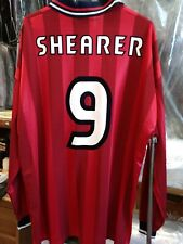 New Authentic Umbro 1998 England Shearer Player Issue long sleeve away Jersey