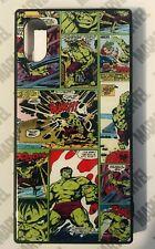 "MARVEL-JAPAN Retro Comic HULK Tempered Glass Hybrid Phone Case: 5.8"" iPhone X XS"