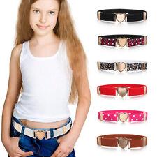 Teen Kids Heart Belt Adjustable Elastic Belts Dresses Waist Belt Girls