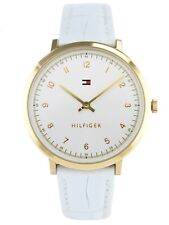 Tommy Hilfiger Women's Quartz Gold Tone Leather White Watch 1781763 $135