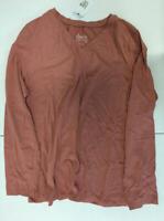 A271576 Denim & Co. Essentials Jersey V-neck Long Sleeve Top Pink Size Large L