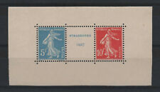 """FRANCE STAMP TIMBRE N° 242 A """" SEMEUSE STRASBOURG 5F+10F 1927"""" NEUF xx LUXE R292"""
