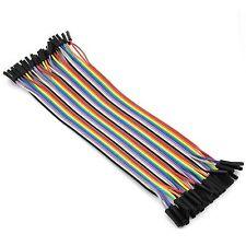 40 Stück Dupont Kabel Stecker auf Buchse 20cm x 2,54mm Jumper Wire für Arduino