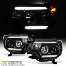 For Black 2012-2015 Toyota Tacoma LED OPTIC DRL Tube Projector Headlights 12-15