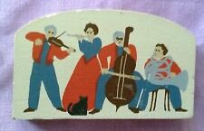 CAT'S MEOW ACCESSORY ~ MUSICAL GROUP violin,flute, bass, horn ~ BLACK CAT unsign