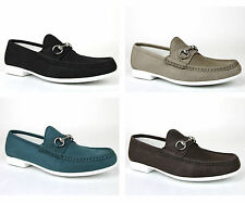 New Authentic Gucci Mens Suede Horsebit Loafer Moccasin, 337060 BHO00