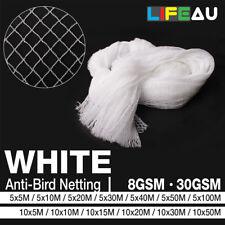 WHITE Anti Bird Netting Commercial Pest Net 5M, 10M Wide 5M - 100M