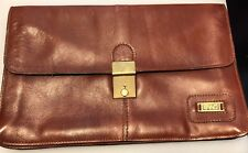 LAND Brown Small Classic Underarm Leather Briefcase Made in Columbia