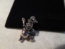 NEW Solid Sterling Silver Disney Winnie the Pooh Bear Charm Pendant 3D