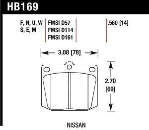 Hawk Performance HB169S.560 Designed For High Deceleration Rates Disc Brake Pads