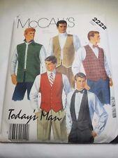 McCall's 2222, Men's Vests, Size 40. (1985 Preowned Uncut)