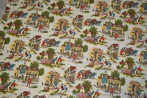 """Cotton canvas home decor fabric 46"""" x 12.5 yard, Vintage Waverly Pickwick Papers"""