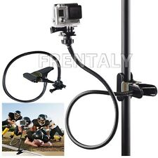 Extra long Jaws Flex Clamp Mount + Adjustable Neck Gopro Hero 6 5 4 3 2 Camera