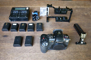 Panasonic LUMIX GH5s Cage, Extra Batteries and Case. Low Clicks!