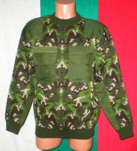 Bulgarian Army Camouflage Wool Sweater sz. L