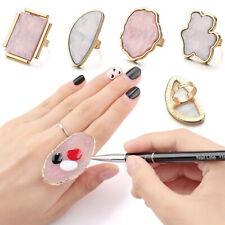 New Resin Stone Nail Art Palette Finger Ring False Nails Tips Drawing DIY