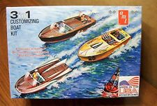 AMT 3 in 1 CUSTOMIZING BOAT KIT with BOAT TRAILER & HITCH 1/25 SCALE MODEL KIT