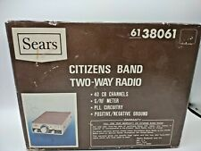 Vintage Sears Citizens Band 2 Way Radio # 6138061, New Never Installed #shelf