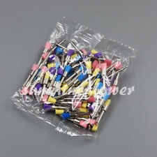 100 Pcs/ Box Polishing Brush Dental Disposable Polisher Prophylaxis Brushes Flat