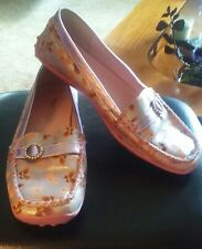 "WANTED Butterfly Print ""Paisley"" Leather Mocassin Loafer Size 9 EPOC"