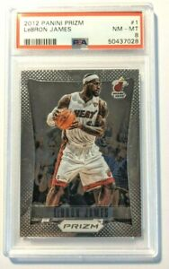 2012-13 LeBron James Prizm #1 PSA 8 First Year Prizm Miami Heat Lakers [028]