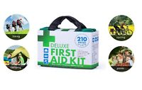 First Aid Kit 210pcs Emergency Medical Travel Car Sport Hiking Safety Outdoor OZ