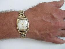 Vintage Gents Mans Wittnauer 10KGF Watch 10K GF Stretch Band