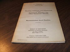 JULY 1960 AAR HAZ-MAT COLLISIONS AND DERAILMENTS RECOMMENDED GOOD PRACTICE