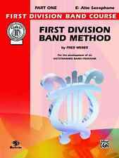 Alfred Publishing Co. Fdl00009A First Division Band Method, Part 1: Eb Alto Saxo