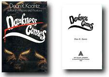 Dean R Koontz DARNESS COMES 1984 First edition large HCDJ W H Allen