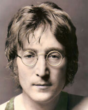 "JOHN LENNON BEATLES SINGER SONGWRITER 8x10"" HAND COLOR TINTED PHOTOGRAPH"
