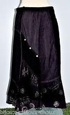 belle JUPE originale marque FRED SABATIER coloris noir écru T 38 tissus mélangés