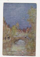 Pont De L'Hydromel Bruges D Murchland Vintage Postcard 227a