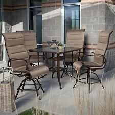 Del Rey Balcony Height Dining Set Table 4 Chairs Bar Height Patio Outdoor NEW