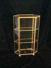 Brass and Glass Tabletop Display Cabinet