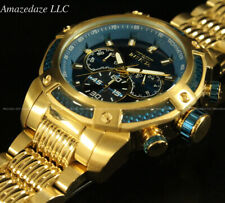 NEW Invicta Men's 48mm SPEEDWAY  Chronograph Sapphire Blue Gold Tone SS Watch
