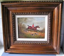 FINE OIL PAINTING OF ENGLISH FOX HUNTING SCENE