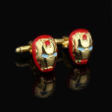 Marvel Avengers Iron Man Mask Helmet Superhero Cufflinks Pattern Suit Gift Bag
