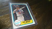 1981 FLEER RICK MONDAY AUTOGRAPHED BASEBALL CARD