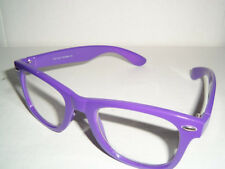 Vintage 50's Buddy Holly Nerdy Fashion Glasses - PASSION PURPLE