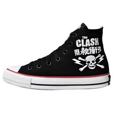 CONVERSE ALL STAR CHUCKS EU 37,5 UK 5 THE CLASH SKULL BLACK LIMITED EDITION NEU