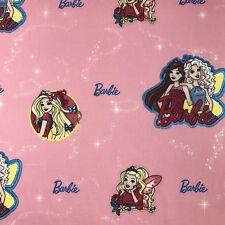 Barbie Amici Pink Novelty Fabric 100% Cotton Kids Childrens Per Metre