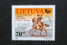 Postal history stamp, postal service, 1998, Lithuania, SG ref: 685, MNH