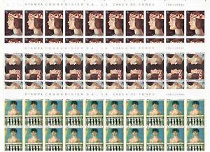 S34688 San Marino 1975 MNH Year Ladies 3v Full Sheet not Folded