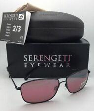 SERENGETI PHOTOCHROMIC Polarized Sunglasses CORLEONE 8417 Black Aviator w/Sedona
