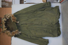parka shell large with fur  hood 1951