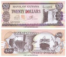 Guyana 20 Dollars 2016 P-New Prefix C38 Banknotes UNC